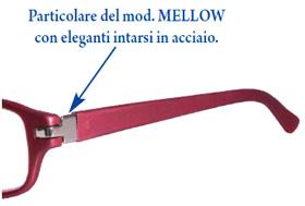 Gli occhiali da lettura Mellow di Espressoocchiali hanno eleganti fregi in acciaio